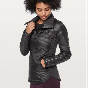 NWT Lululemon Down For A Run II Pullover In Black